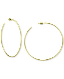 Circle Hoop Earrings in 18k Gold Over Sterling Silver, Created for Macy's