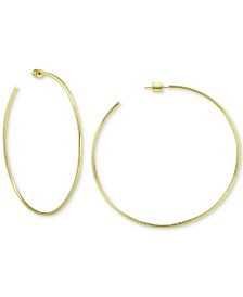 Giani Bernini Circle Hoop Earrings in 18k Gold Over Sterling Silver, Created for Macy's