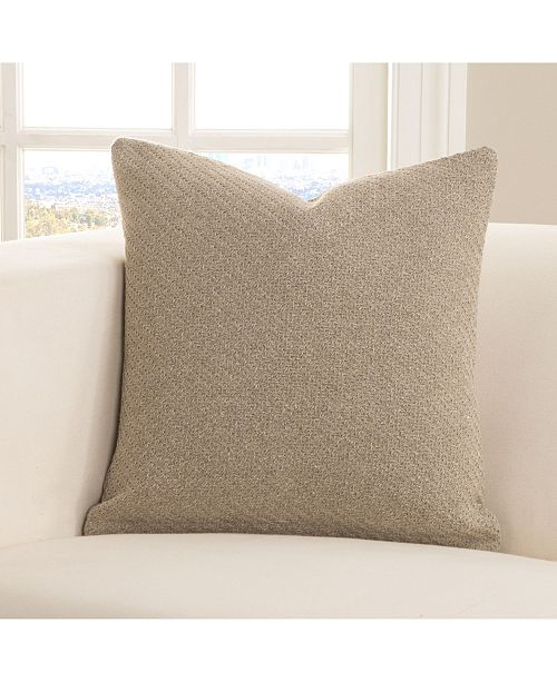 "Siscovers Earthy Textured 16"" Designer Throw Pillow"