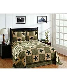 Star Queen Bedspread and Sham Set