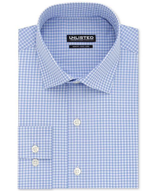 Kenneth Cole Unlisted Men's Slim-Fit Check Dress Shirt