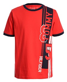 Tommy Hilfiger Big Boys Side Logo Ringer T-Shirt