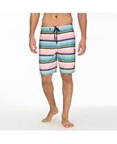 2f4f9fd9f1a3c Hurley Men's Baja Striped Board Shorts