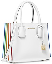8f5149c62e3a MICHAEL Michael Kors Mercer Rainbow-Trim Leather Crossbody Tote