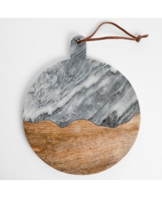Laurie Gates Gray Marble Round Board