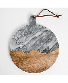 Gray Marble Round Board