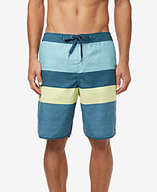 """O'Neill Men's Four Square Ultrasuede Quick-Dry Colorblocked Stripe 20"""" Board Shorts"""
