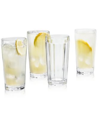 CLOSEOUT! La Dolce Vita Clear Highball Glasses, Set of 4, Created for Macy's