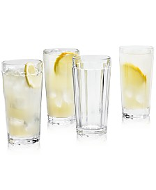 Martha Stewart Collection La Dolce Vita Clear Highball Glasses, Set of 4, Created for Macy's