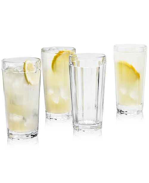 Martha Stewart Collection CLOSEOUT! La Dolce Vita Clear Highball Glasses, Set of 4, Created for Macy's