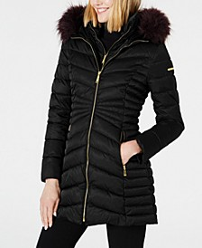 Faux-Fur Trim Puffer Coat