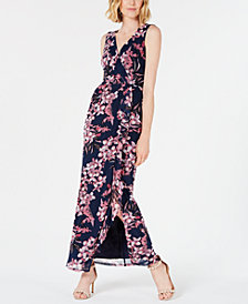 Connected Surplice Ruffle Dress