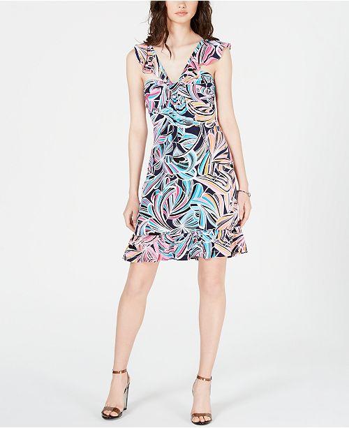 Trina Turk Ruffled Cap-Sleeve Dress