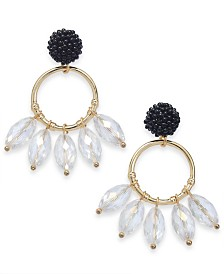 I.N.C. Gold-Tone Circle & Shaky Bead Drop Earrings, Created for Macy's
