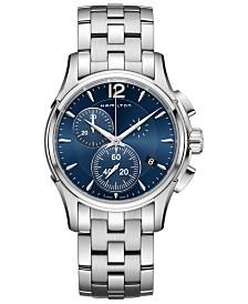 Hamilton Men's Swiss Chronograph Jazzmaster Stainless Steel Bracelet Watch 42mm