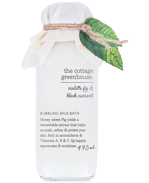 The Cottage Greenhouse Violette Fig & Black Currant Bubbling Milk Bath, 16-oz.