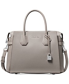 Mercer Belted Pebble Leather Satchel