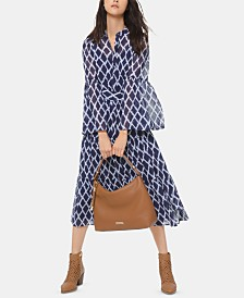 Michael Michael Kors Printed Tiered Shirtdress