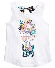Epic Threads Little Girls Floral-Print Bow-Back Tank Top, Created for Macy's