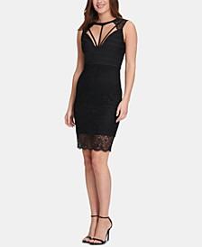 Lace Open-Back Bodycon Dress