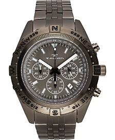 Tavan Between Wind & Water Men's Chronograph Watch Gunmetal Bracelet, Grey Dial, 48mm