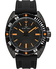 Anchor Sentinel Men's Watch Black Silicone Strap, Black Case, Black Dial, 47mm
