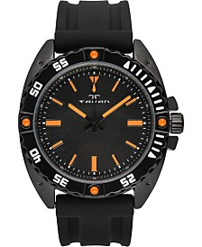 Tavan Anchor Sentinel Men's Watch Black Silicone Strap, Black Case, Black Dial, 47mm