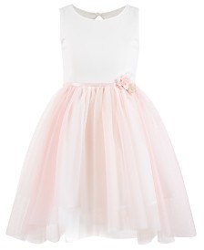 Pink & Violet Toddler Girls Ribbon-Waist Dress