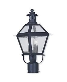 CLOSEOUT! Livex   Waldwick 2-Light Outdoor Post Lantern
