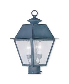 Livex Mansfield 2-Light Outdoor Post Lantern