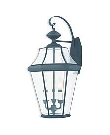 CLOSEOUT! Livex   Georgetown 3-Light Outdoor Wall Lantern