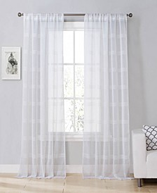 "Southside 54""x84"" Sheer Stripe Curtain Set"