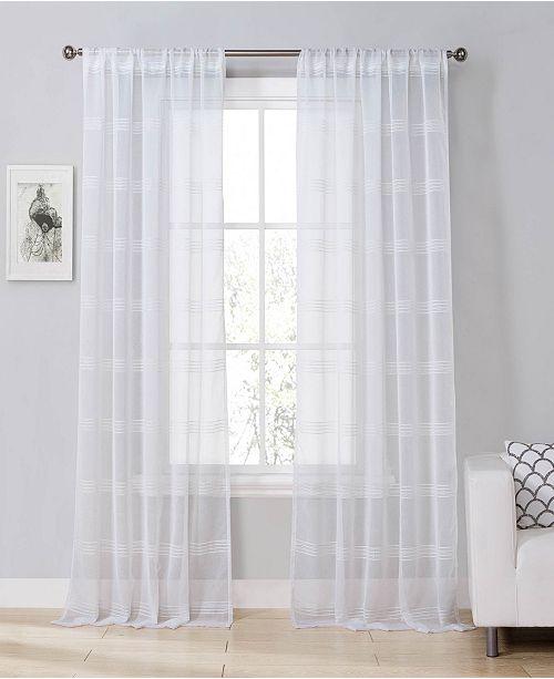 "Duck River Textile Southside 54""x84"" Sheer Stripe Curtain Set"