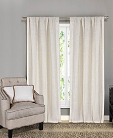 Keighley 4-Piece Linen Look Curtain and Pillow Cover Set