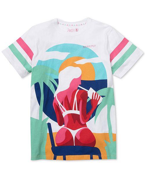 Born Fly Men's Bun in Da Sun Graphic T-Shirt