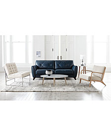 Myia Leather Sofa Collection, Created for Macy's