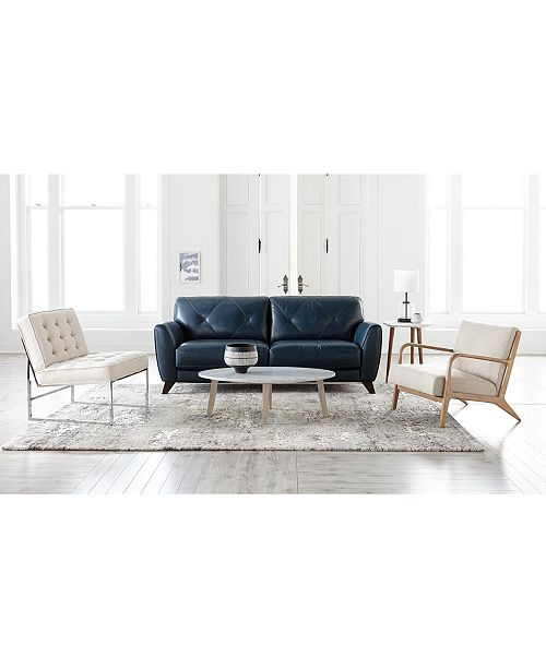 Furniture Myia Leather Sofa Collection, Created for Macy's