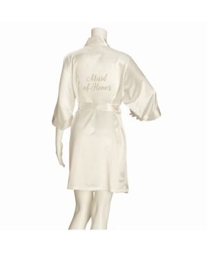 Ivory Satin Maid of Honor Robe