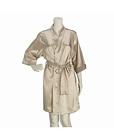 Lillian Rose Champagne Satin Bridesmaid Robe L/XL
