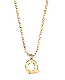 Gold-Tone Initial Necklace 20""