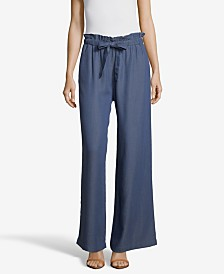JohnPaulRichard Soft Wide Leg Pants with Tie Front
