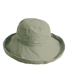 Scala Medium Brim Cotton Bucket Hat