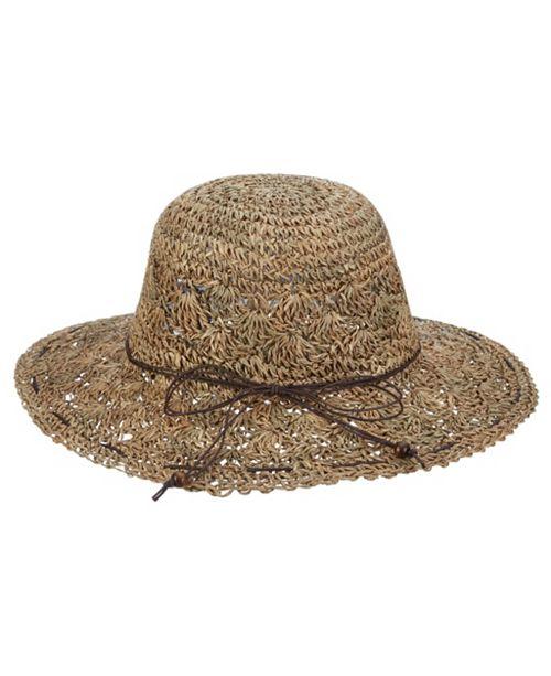 1ce73c2b41a8b3 Scala Hand-Crocheted Seagrass Floppy Hat & Reviews - Women - Macy's