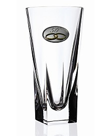 Lorren Home Trends RCR Fusion Large Crystal Vase with 50th Anniversary Design