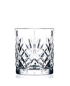 Melodia Crystal Double Old Fashioned Glass - Set of 6