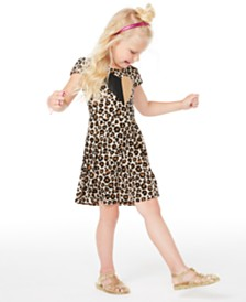 Epic Threads Toddler Girls Leopard-Print Criss-Cross Dress, Created for Macy's