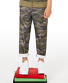 Epic Threads Toddler Boys Camouflage Tricot Pants, Created for Macy's
