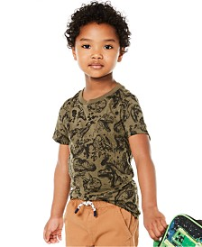 Epic Threads Toddler Boys Fossil-Print T-Shirt, Created for Macy's
