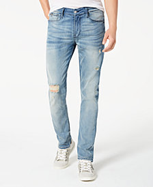 GUESS Men's Freeform Slim-Tapered Fit Stretch Destroyed Jeans
