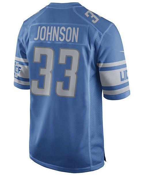 best website ff4b1 48a5a Men's Kerryon Johnson Detroit Lions Game Jersey